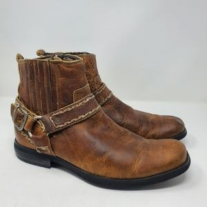 Bed|Stu Innovator Leather Motorcycle Boots 9.5